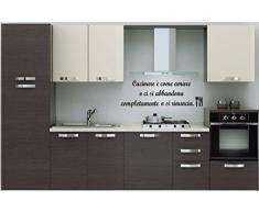 """wall stickers Adesivo murale """"Cucinare è come amare ......"""" frasi, desideri, love - (54cm x 18cm) - adesivi murali decorazioni interni by tshirteria"""