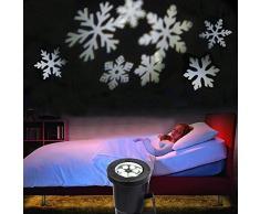 Podofo® Proiettore impermeabile fiocchi di neve della luce della lampada LED di paesaggio scintillante Per Interni Esterni Natale Casa decorazione (bianco)