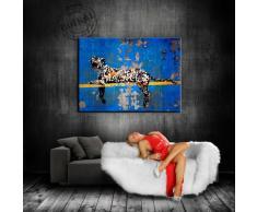 """'BANKSY Arte Su tela 100 x 70 cm K. poster. Immagine già montato su telaio. Pop Art pittura arte stampe, quadri, Immagini Per La Decorazione - Decorazione/Top 100 """" Banksy immagini - Graffiti/Street Art Arte stampe"""