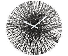 koziol - Orologio da parete, Nero solido, 3.5 x 44.8 x 44.8 cm, plastica, tondo