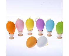 Cordino emulational giocattoli creativi colorate uova di pasqua uovo per bambini decorazioni ornamenti DIY 6 * 4cm, mescolando 50pcs