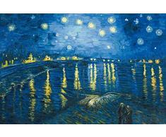 1art1 Vincent Van Gogh - Notte Stellata sul Rodano, 1888 Poster Stampa Geante XXL (120 x 80cm)