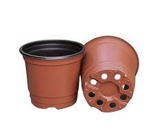 Vasi di coltura di plastica, 100 pz da 10,2 cm l'uno, per fiori e piante