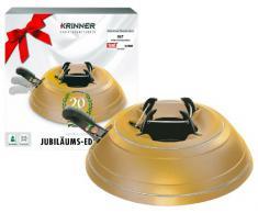 Krinner Vario Classic 94004 Supporto per albero di Natale, modello giubileo con verniciatura speciale colore: Oro