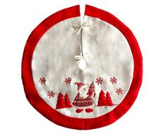 ShiyiUP Albero di Natale Gonna Decorazione Babbo Natale Peluche
