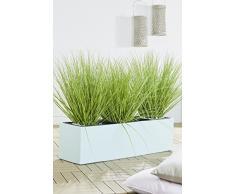 Gartenfreude - Vaso per piante a forma cubica in cemento leggero, dotato di foro per lo scorrimento dellacqua, adatto allesterno, disponibile in diverse misure e colori