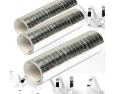 Stelle filanti metallizzate argento