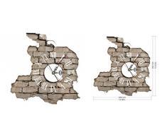 LifeUp- Orologio da Parete Moderni Design silenzio Numeri Romani, Adesivi Murali 3D Decorazioni Soggiorno Camera da Letto Casa, Regalo Originale Natale Compleanno, 39*38cm