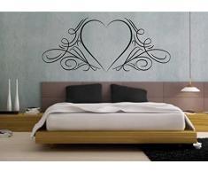 wall stickers Adesivo murale Cuore, amore, love (127cm x 57cm) - adesivi murali decorazioni interni by tshirteria