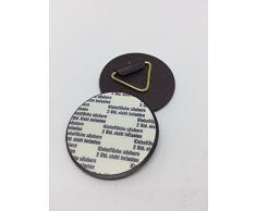 Packstatt, 2 ganci autoadesivi in plastica, di colore marrone, per fissare quadri e cornici, diametro: 42 mm