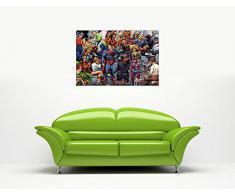 "Pop Art Stampa su tela stampe Foto DC Comics Justice League gruppo artisti pittura foto supereroi Room Decoration Superhero poster Stampa Immagine, puntine Tela Legno, 9- A0 - 40"" X 30"" (101CM X 76CM)"
