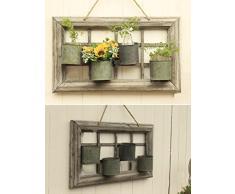 ZHANWEI ripiani Retro Rack Fiore / parete ornamenti piccoli fiori cornice Decorazioni Scaffali da parete Balcone Giardinaggio Varie Scaffale Fioriera