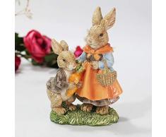 Smart Art coniglietto pasquale in resina marrone realistico coniglio da giardino, cortile paesaggio Handicrafts coniglio figurine