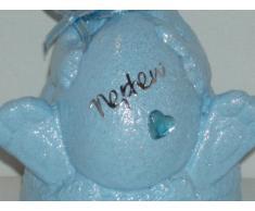 """Un adorato nipote """", colore: Blu Baby coniglietto pasquale, decorazione commemorativa da Ziggy Crafts"""