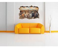 bella vista di New York muro passo avanti nel look 3D, parete o in formato adesivo porta: 92x62cm, autoadesivi della parete, autoadesivo della parete, decorazione della parete