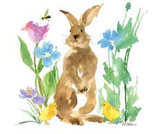 Tovaglioli (2 Set / 40 pezzi) 3 strati 33 x 33 cm Primavera Pasqua Coniglietto Coniglio Felix