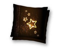 Cuscino Natalizio Quadrato Idea Regalo Natale Babbo Natale Felice 50x50 cm Poliestere