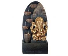 Zen et Etnico Grande Fontana da Interno Ganesh in Resina