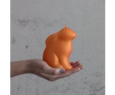 Candela coniglietto di Pasqua Grande Arancione 120 mm – Candela