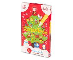 Sabbiarelli Sand-it for Fun Kit Happy Christmas Tree - Set Lavoretti Creativi di Natale: Crea e Colora con la Sabbia Gli Addobbi Natalizi, Bambini 3+