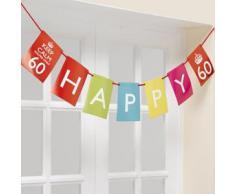 Neviti - Decorazioni per Compleanno Keep Calm, Youre Only 60, Colori Assortiti