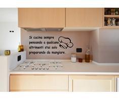 """wall stickers Adesivo murale """"Si cucina sempre pensando a qualcuno ......"""" (134cm x 57cm) - adesivi murali decorazioni interni by tshirteria"""