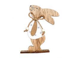 Danigrefinb, Coniglietto Pasquale, Supporto in Legno, Simpatico Coniglietto in Stile Cartone Animato, Decorazione per la casa, Ornamento per Pasqua, Ornamenti per la casa, Legno, Random Color, B
