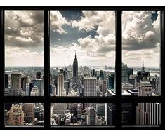 New York Stampa finestra su tela 60 x 80 cm