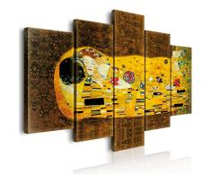 Lupia World Vogue Quadro su Tela 5 Pezzi Il Bacio di Klimt 100x150x3 cm