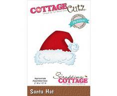 CottageCutz Made Easy-Fustella in Metallo Petites-Cappello da Babbo Natale, 5 cm x 1,5 cm