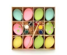 Lazada di Pasqua uova colorate di Pasqua fai da te uova con decorazioni d'attaccatura di bambini giocattoli con la spazzola libero e Vernice