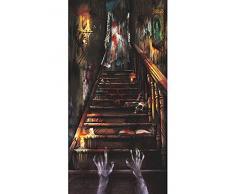 Amscan International – 241151 1,65 m x 85 cm Casa Stregata Stairway porta Kit di decorazione