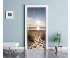 il modo di mare come Murale, Formato: 200x90cm, telaio della porta, adesivi porta, porta decorazione, autoadesivi del portello