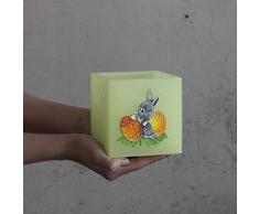 Quadrata Lampion Verde Pasqua Tealight cera Lampion Candela Pasqua