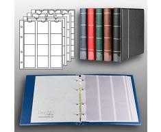 Prophila Kobra Album per Monete con 4 Fogli per 110 Monete Blu