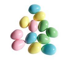 ERRO Set di 12 Uova Colorate, in plastica, 16546, Uova di Pasqua, Decorazioni, Uova di Pasqua, Decorazione per la ristorazione