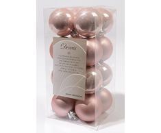 16 palline di Natale infrangibili, 4 cm, decorazione, 40 mm, rosa chiaro