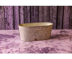 Troughs galvanizzato per creare un Vintage, giardino. 3 Misure. Grat Vasi per Fiori E Piante Aromatiche., Small CODE:22592