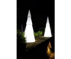 8Seasons Shining Tree- Lampada a forma di albero di Natale moderno 55cm bianco