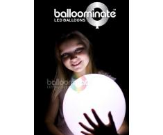 15x Palloncini Luminosi Balloominate White - LED Luce Bianchi Fissa Party Pack