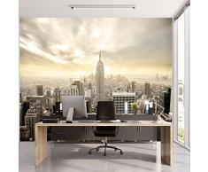 Carta Parati New York 366 x 254 cm Include Colla Manhattan Skyline City città wallpaper fotomurali poster gigante ufficio