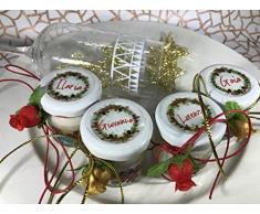 4 mini candele profumi speziati natalizi segnaposto natalizio capodanno personalizzato Decorazione tavola natalizia ricordo per gli ospiti