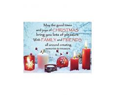 May the good times e gioia di Dedica per candela di Natale Luce Led Up Stampa Su Tela