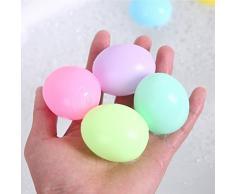 TOYANDONA 7 pz Easter Egg Toy Simulazione Uova Colorate Easter Egg Hunt Pasqua Basket Stuffer Squeaker Vasca da Bagno Giocattoli per Bambini Toddler Bambini (Colori Assortiti)