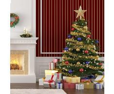 Coaster, puntale per albero di Natale a forma di stella, colore rosso, pvc, Golden