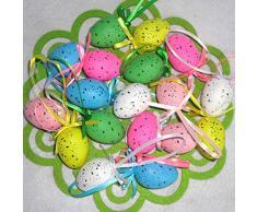 Wyi - Set di 18 Uova di Pasqua Colorate in plastica con Uova di Pasqua, Ideali per Decorazioni Fai da Te, Decorazioni per Pasqua, Feste di Compleanno, 54 Pezzi, 3x4cm/1.18x1.5inch