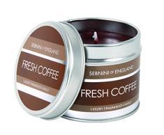 SEBNINI - Candela in barattolo di latta, aroma: caffè