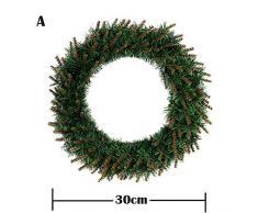 Homebaby Ghirlanda natalizia decorativa DIY Corona dattaccatura del fiore dellarco di 30/35/40cm Regalo di Natale