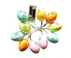 Shenruifa 2021 Decorazioni pasquali, 1,5 metri 10 LED di Pasqua uovo di stringa luci a batteria per festa di Pasqua decorazione per la casa
