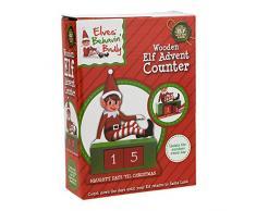 Contatore di avventura in legno di Elf - Decorazioni natalizie - Conto alla rovescia di Natale